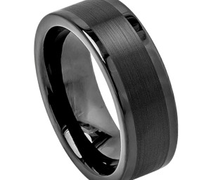 mens black tungsten wedding band fullerton ca - Country Wedding Rings